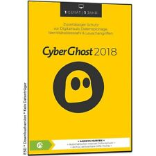 S.A.D. CyberGhost 6 2018 - VPN * Vollversion * 1 PC 1 Jahr * Cyber Ghost Lizenz