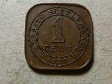 Straits Settlements 1 cent 1920 lot2