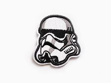 Star Wars Stormtrooper helmet patch Iron On Embroidered Applique Storm Trooper