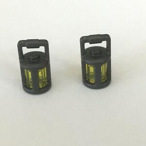2 Lego Laterne Lampe perl dunkelgrau NEU 37776 Figur Zubehör