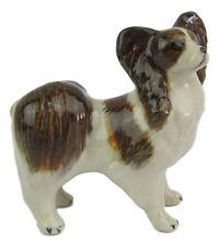 Miniature Ceramic Papillon Standing Dog Figurine Approx 6cm x 6cm