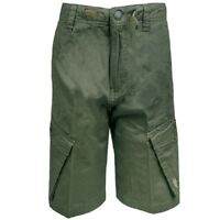 Boys US-Polo Assn Original Olive Cotton Cargo Casual Shorts.Sizes:8-14years
