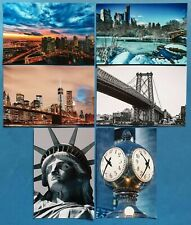 Collection of 6 New Glossy New York City NYC USA Postcards by Cavalier 57N