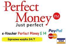 Perfect Money 14 $ USD e-Voucher Kod Najtaniej Najszybciej na rynku!