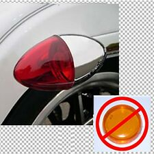 FITS HARLEYS W/60MM POP ON STYLE TURN SIGNAL  BULLET LENS RED- REAR