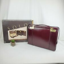 Vintage Solo Attache by United States Luggage Leather Attache Style 360 Rare NEW