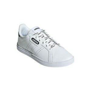 adidas Women White Leather Courtpoint Base Trainers Shoes Lace Sneaker Size 10