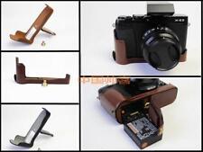 Half Leather bag grip case cover for FUJIFILM X-E3 XE3,  bottom-open, 3 colors