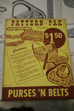 Leather Craft PATTERN PAK LEATHER WORKING Vintage Carving  Patterns