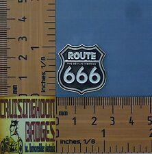 Route 666 The Devils Highway  Bikers Lapel Pin / Badge