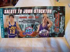 Salute to John Stockton Ticket June 7, 2003