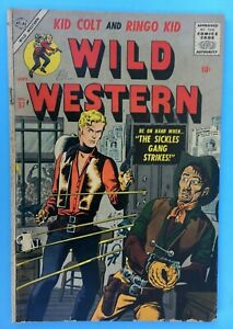1957 Atlas/Marvel WILD WESTERN Comic #57 -Kid Colt, Ringo Kid - LAST ISSUE VG-