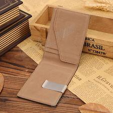 Mens Thin Leather Slim Magic Credit Card ID Holder Handbag Money Clip Wallet  H1