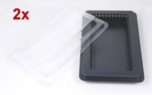 2x RAM Memory Arbeitsspeicher Aufbewahrung ESD Box für je 20 SoDIMM o. 10 DIMM