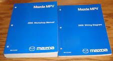 Original 2005 Mazda MPV Van Shop Service Manual + Wiring Diagram Set 05