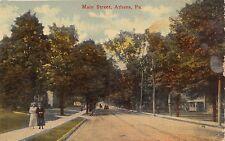 ATHENS PENNSYLVANIA MAIN STREET~ MESSNER DRUGGIST POSTCARD 1917