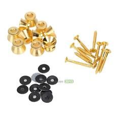 10 X  Guitar Strap Locks Straplocks Knobs Buttons Mushrooms Heads Gold Hot