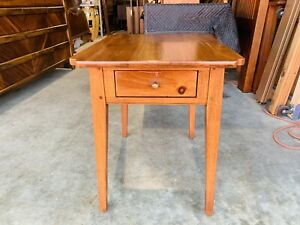 Beautiful Ethan Allen Country Craftsman End Table W Drawer Collection 19- 8305