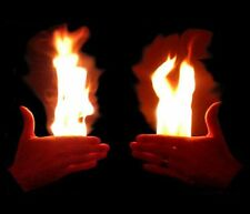 FICKLE FIRE FROM HANDS MAGIC HOT FLAME IN PALM TRICK PAIR TWO LEFT & RIGHT HAND