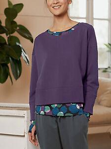 EX SEASALT Aubergine Lyrical Sweatshirt OVERSIZED SHORTER LENGTH 14, 16, 26/28