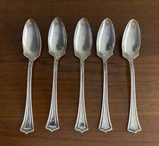 5 Oneida 1881 Rogers A1 SCOTIA Fruit Orange Spoons 1915 Antique Silverplate