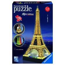 PUZZLE RAVENSBURGER 3D NIGHT EDITION 216 PZ LA TORRE EIFFEL PARIGI ART 12579