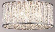 John Lewis Emilia Crystal Drum Flush Ceiling Light