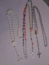 Rosaries lot 3 Crosses Religious Jewelry Mixed plastic Metal