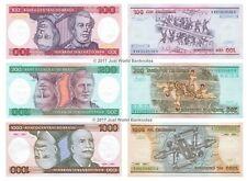 Brazil 100 + 200 + 1000 Cruzeiros 1984-86 Set of 3 Banknotes 3 PCS UNC
