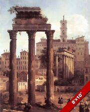 ANCIENT ROMAN REPUBLIC FORUM RUINS ROME LANDSCAPE PAINTING ART REAL CANVAS PRINT