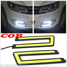 NEW U-SHAPED C-SHAPED 6000K COB SUPER WHITE LED DRL DAYTIME RUNNING LIGHTS DIY