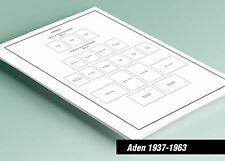 PRINTED ADEN 1937-1963 STAMP ALBUM  PAGES (16 pages)