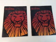 Lot of Two Disney Lion King Broadway Musical Playbook Copyright 1997