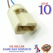 10x G9 Base Ceramic Socket Lamp Holder Cable Halogen Bulb LED Light Fitting