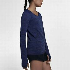 Women's Size XL NIKE Dry Long Sleeve Running Shirt Top Purple Comet 831500-510