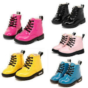 Kids Ankle Boots Boys Girls Shoes Winter Warm Chelsea Fur Lined School Boot Size