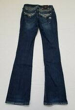 MISS ME Women's Blue Embellished Bling Denim Boot Cut JEANS JP5002849 Size 26