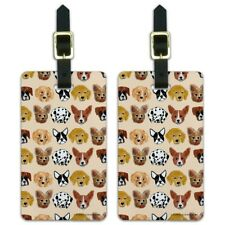 Lots of Dogs Dalmatian French Poodle Luggage ID Tags Cards Set of 2