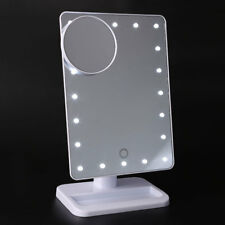Portable 20 LEDs Lighted Makeup Cosmetic Tabletop Mirror 10x Magnifying Vanity