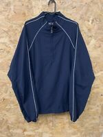 Adidas Men's ClimaProof Wind Half-Zip Golf Jacket Size Large L Navy Blue