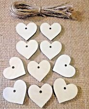 10 x Wooden Heart Gift Tags / Wedding Favours / Buy 2 get 1 free