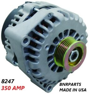 350 AMP 8247N Alternator CHEVY CADILLAC GMC HIGH OUTPUT PERFORMANCE MADE IN USA