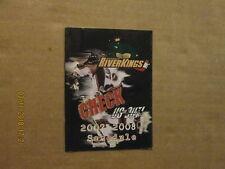 Chl Mississippi Riverkings Vintage Defunct 2007-2008 Logo Hockey Pocket Schedule