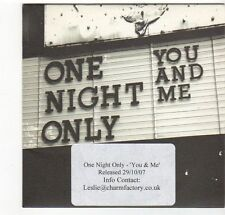 (EZ426) You And Me, One Night Only - 2007 DJ CD