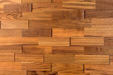 3D Holz Wandverkleidung | Teak | Holzwand Paneele Wandgestaltung wodewa Fliese