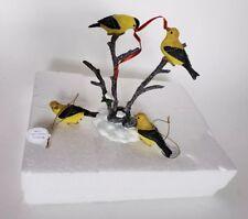 Hawthorne Village Backyard Splendor Songbirds Yellow Finch 3 Pc Set Christmas