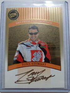 2003 Press Pass Signings Gold Tony Stewart 32/50