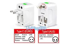 Universal Power Socket Adapter TypeA (USA) Type-C (EURO) Type-G (UK) Type-I (AU)