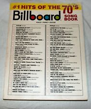 BILLBOARD #1 Hits Of The 70's SONGBOOK Voices Piano Guitar BIG3