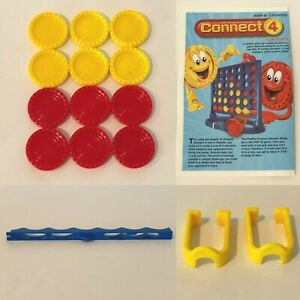 Connect 4 Four Board Game Replacement Parts Pieces Checkers Scoring Slide Choice